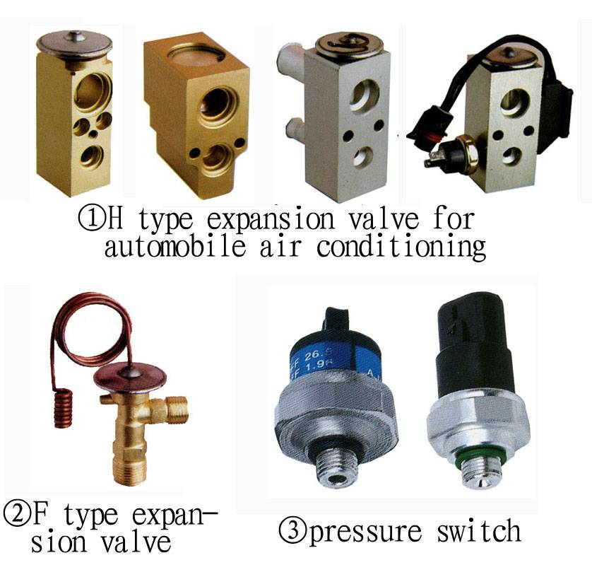 Thermal Expansion valve for automobile (vehicle) air conditioners components