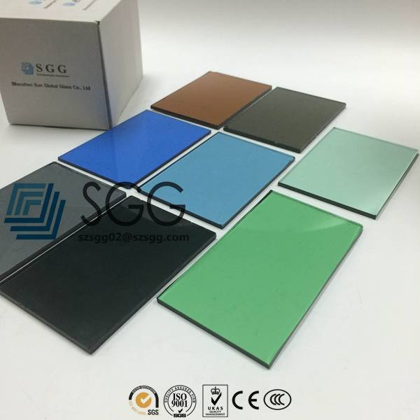 3.2/4/5/6/8/10/12/15/19mm Low e Bronze Blue Green Gray Tempered Glass