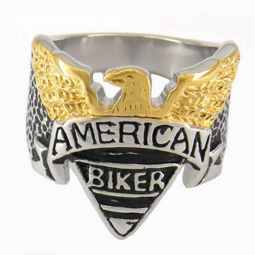 fanssteel biker rings pendant