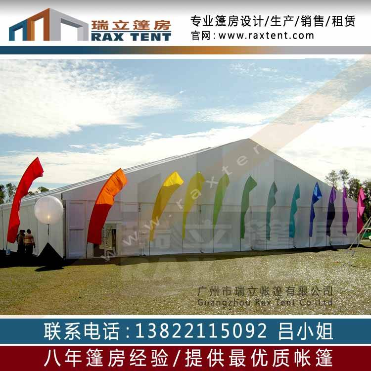10m to 25m width PVC marquee tent with ABS sidewall on promotion