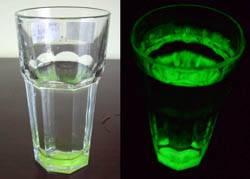 luminescent glass mug