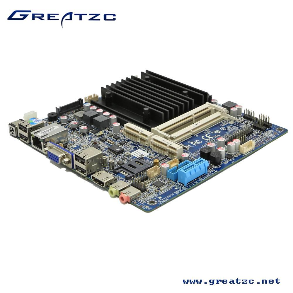 ZC-BT19 Fanless Industrial Mini ITX Motherboard 2 DDR3L Motherboard With LVDS& DC12V-19V IN