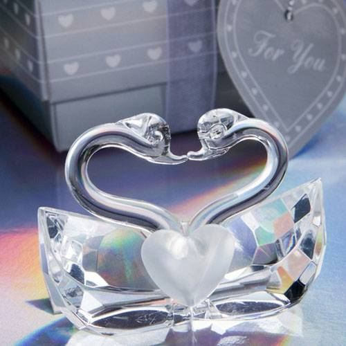 Perfect Match Crystal Kissing Swans Favor