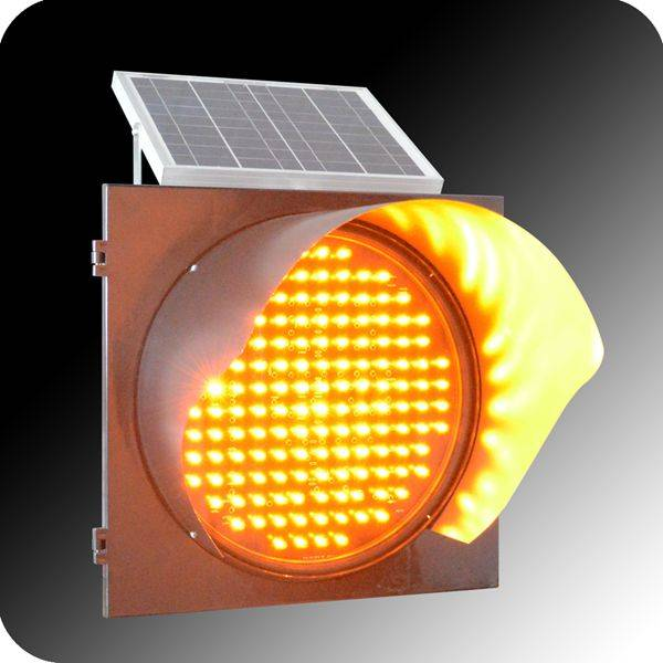 yellow color led mini flashing warining signal light bar with solar for traffic