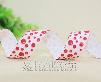 lovely printed polyester grosgrain ribbon,cheap price ,low MOQ