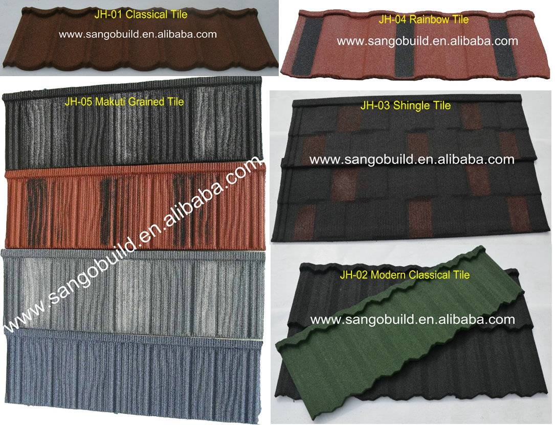 available price stone coated metal tiles from china factory