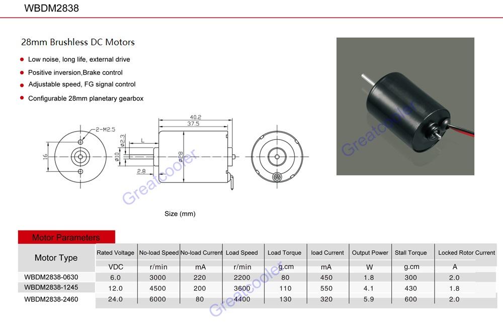 geratcooler Brushless DC Motor