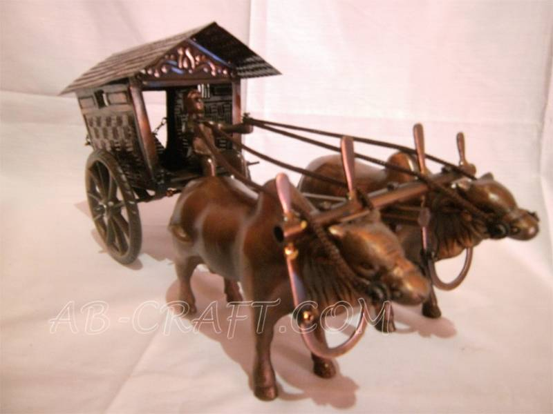 Miniature Train Iron Brass Copper Cow