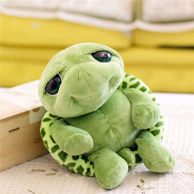 Super Green Big Eyes Stuffed Tortoise Animal Plush Toy DS-TT001