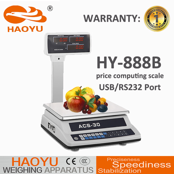 RS232 Double Side Display With Pole Industrial Platform Weighing Scale