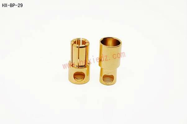 8.0mm gold plated banana connector/RC battery connector