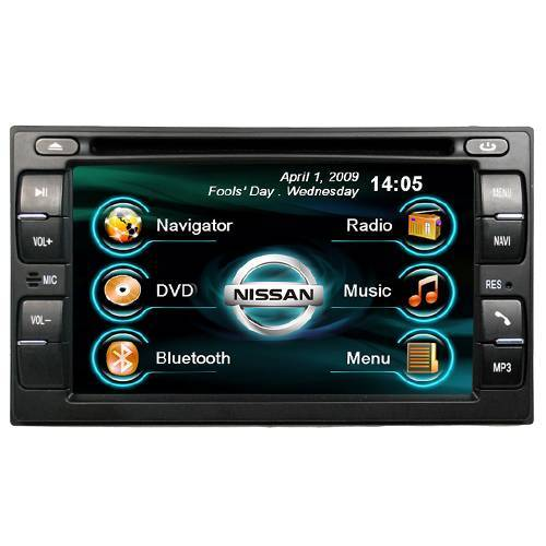 NISSAN Navigation DVD + 6.2 HD screen + Bluetooth A2DP + ipod + Notebook + File browser + Game