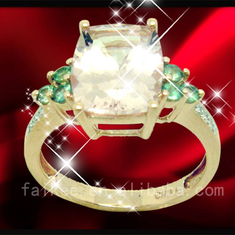 HOT SALE 10 K rose gold ring jewelry with gemstone