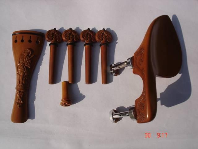 Carved Violin Set in Boxwood.
