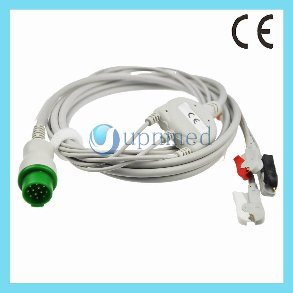 Fukuda Denshi DS-7100 3/5 lead ECG cable,U369-13CA