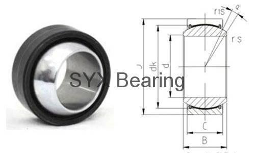 Spherical plain bearing GEG35ET-2RS