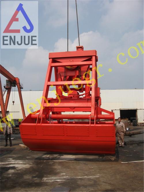 6-12m3 Electro Hydraulic Clamshell Grab for 25 Ton Marine Crane