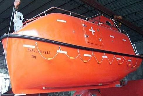 Used Totally Enclosed Life boat&rescue boat SOLAS Approved