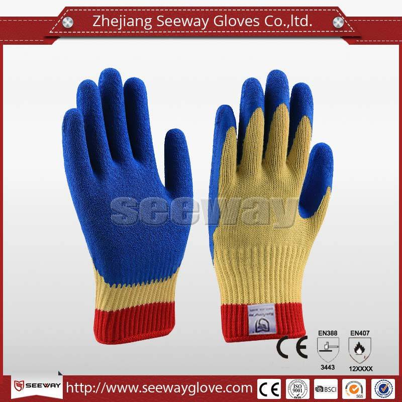 SeeWay Blue Grip Natural latex Cut-Resistant Work Gloves