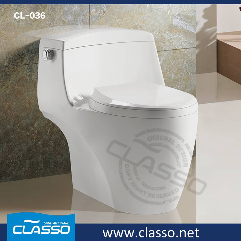 New design siphonic one piece toilet Turkish brand CLASSO CL-036