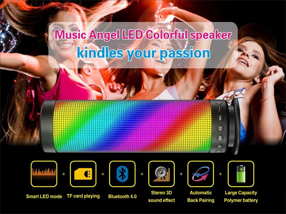 High-end Colorful LED wireless Bluetooth Speaker KRF-055