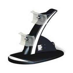 Blue LED Dual Charger Controller Stand Charging FOR PS3