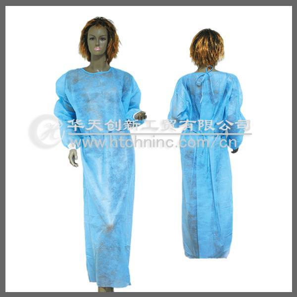 disposable pp nonwoven isolation gown,medical isolation gown