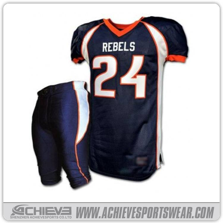 2016 Sublimated American Football Tracksuit Jersey