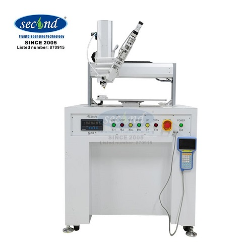 High precision CE certificated 4 Axis two parts desktop automatic dispensing robots for LED and LCD