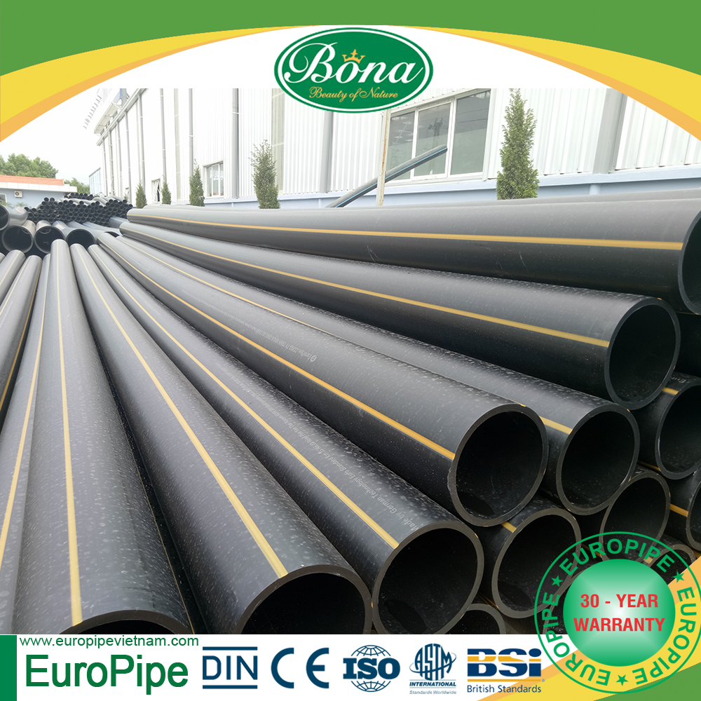 [EUROPIPE] PE 100 HDPE natural plastic gas pipe and fittings for oil supply
