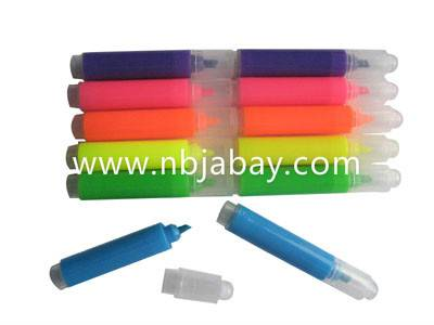 colorful mini highlighters