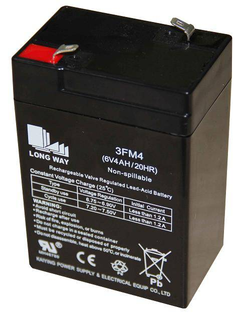 Valve regulated lead acid battery/ 3FM4(6V4AH/20hr)