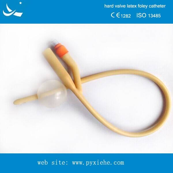 disposable two way urethral catheter with hard valve