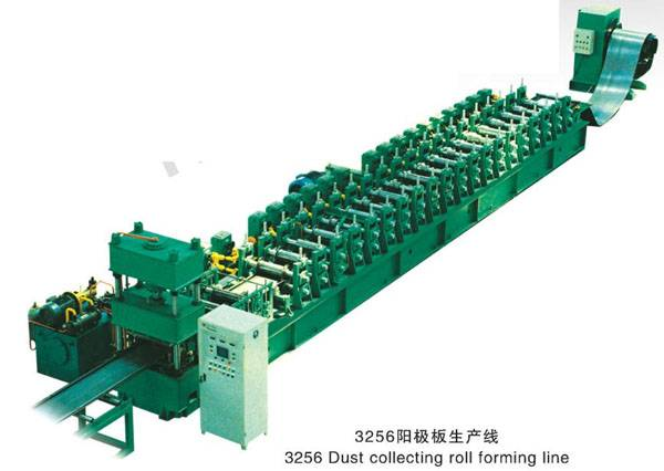 Dust collection roll forming machines