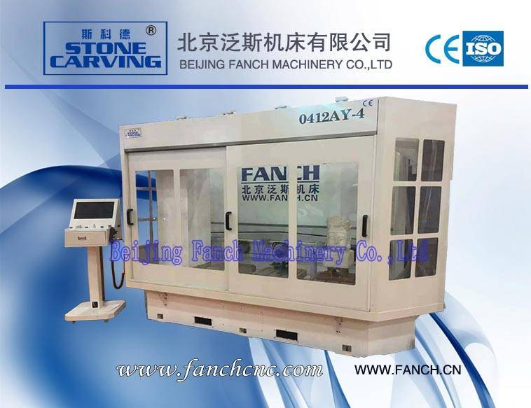 Offer Stone 4-station 4-axis 3D Engraving Machine