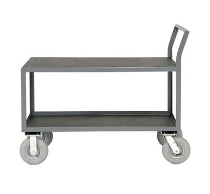 Double layers metal material handling trolleys RCA-029