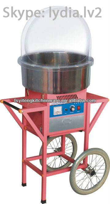 High Quality Electric Candy Floss Machine With Cart