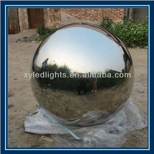 mirror stainless steel gazing ball, hairline finish/brushed hollow less steel ball