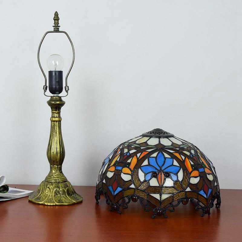 Manufacturer sells 12 inch Tiffany lamp European resin base