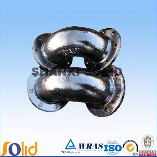 ductile iron double flange pipe fitting