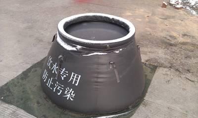 Rain water bladder tank