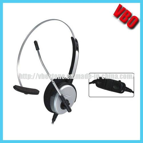 Fashionable Call Center Headphone with Noise Cancelling Microphone