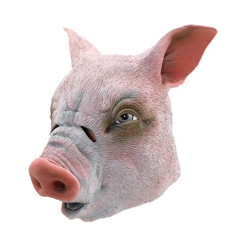 Youtumall Realistic Latex Pig Head Mask Costume Cosplay