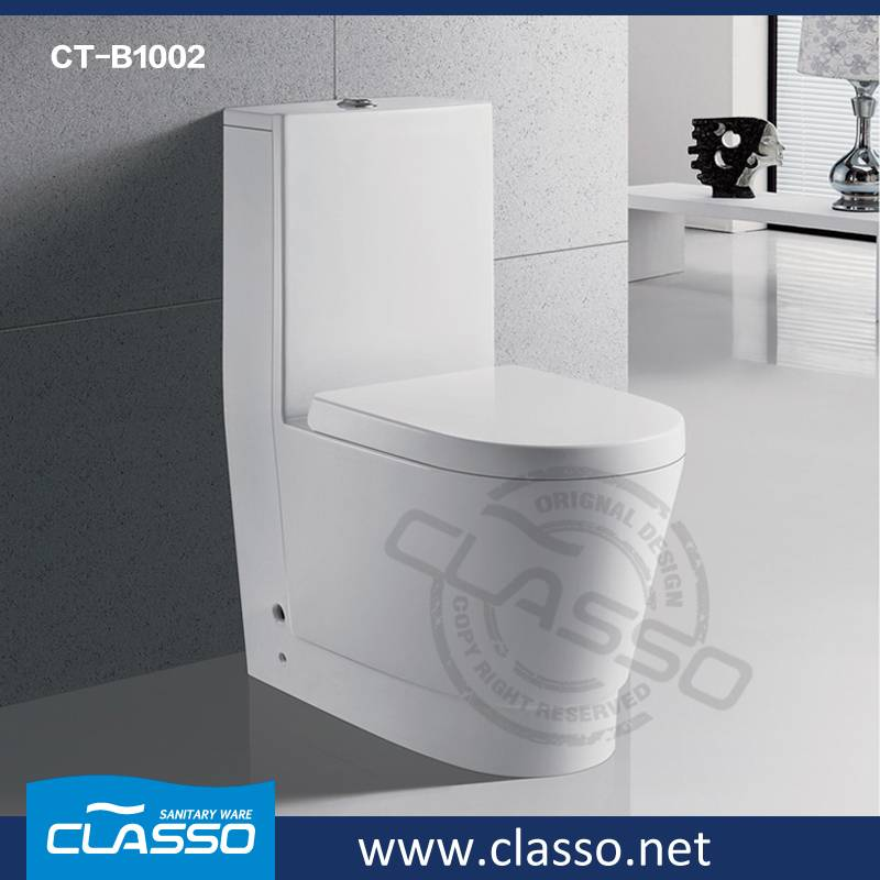 New Design Middle East style Bathroom washdown toilet 4-inch one piece closet CLASSO CT-B1002