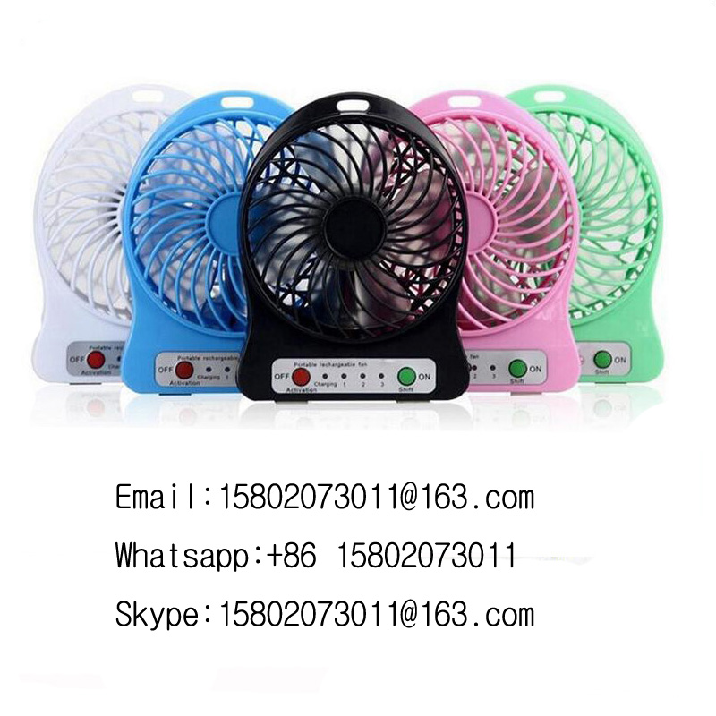 Hot selling portable air cooler mini USB fan rechargeable