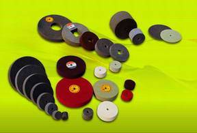 Non-woven Wheels, nonwoven unitized wheels, unitised wheels, Grinding Wheels, metal finishing wheels