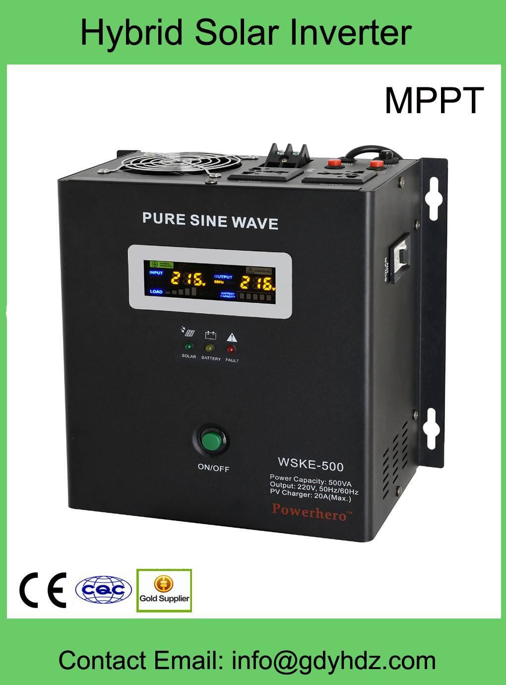 Pure Sine Wave Hybrid Solar Inverter/Solar Inverter with MPPT Controller