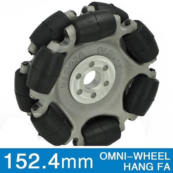 152.4mm double aluminum omni robot wheel QLM-15