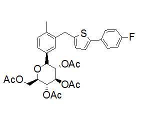 (2R,3R,4R,5S,6S)-2-(acetoxyMethyl)-6-(3-((5-(4-fluorophenyl)thiophen-2-yl)Methyl)-4-Methylphenyl)tet