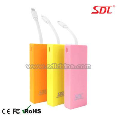 3000mAh Mobile Power Bank Power Supply External Battery Pack USB Charger E65